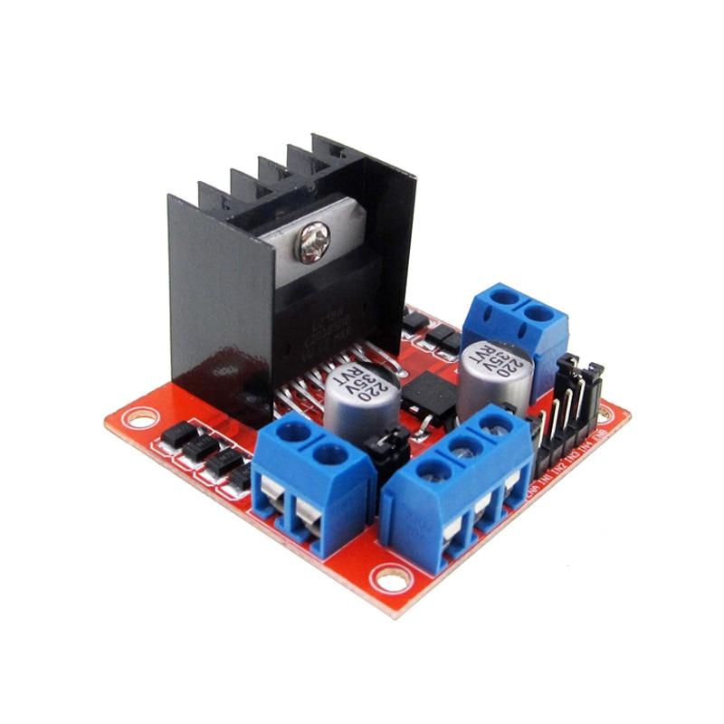 все цены на Free Shipping  10pcs/lot L298N driver board module L298 stepper motor smart car robot breadboard peltier High Power онлайн