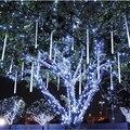 UE/EE.UU. Plug multicolor 30 CM lluvia de Meteoros Lluvia Tubos AC100-240V LLEVÓ Las Luces De Navidad Boda Del Jardín de Navidad cadena de Luz Al Aire Libre