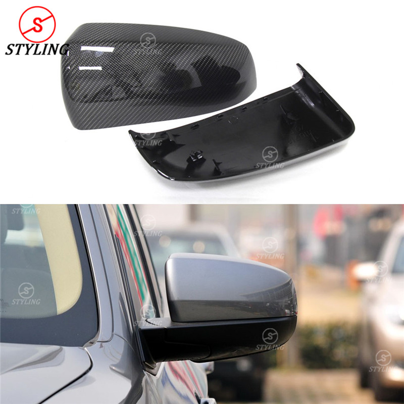 1:1 Replacement & Add on style For BMW X5 E70 X6 E71 Carbon Fiber Rear View Mirror Cover 2007 2008 2009 2010 2011 2012 2013 for bmw x5 e70 2008 2009 2010 2011 2012 2013 true carbon car side mirror rearview cover trims 2pcs