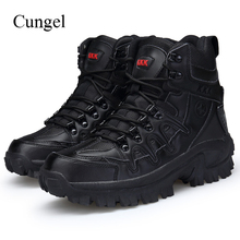 Cungel Winter/Autumn Military Tactical Male Boots Outdoor Army Combat Men breathable waterproof Hiking Shoes Trekking Climbing