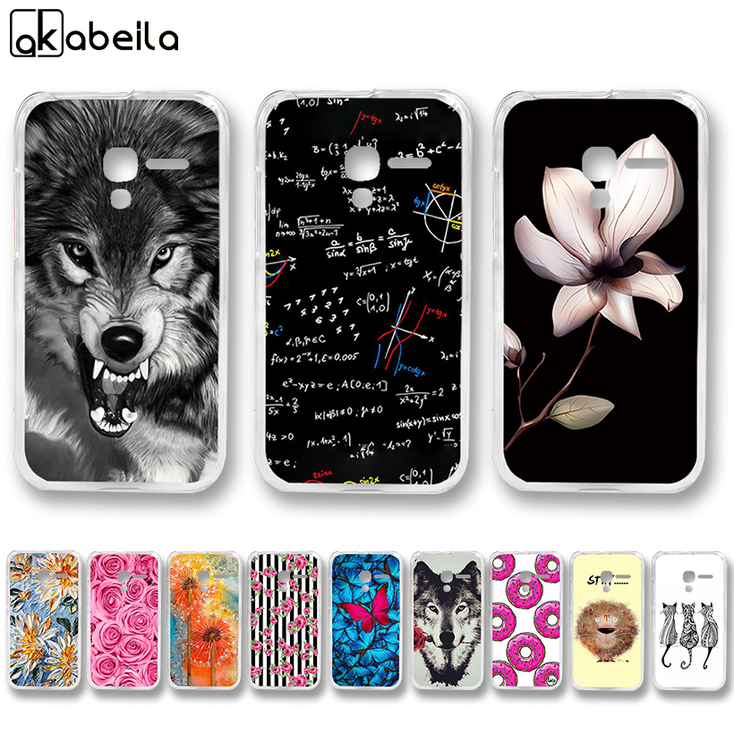 AKABEILA Hard Plastic Painted Cases For Alcatel OneTouch Pop D3 4035 4035A 4035D 4035X 4035Y Covers Nutella Flamingo Tetris Bags