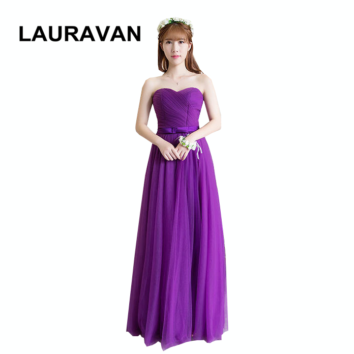 Us 39 9 Women Strapless Deep Purple Tulle Strapless Bridesmaid Dresses Eggplant Off Shoulder Bridemaid Dress Real Picture Ball Gown In Bridesmaid