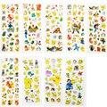 90 Pçs/lote Anime Pokemon Pikachu Adesivos 9 Estilos kawaii 3D Inchado Adesivos Brinquedos Presente para As Crianças