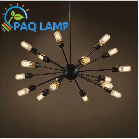 ФОТО vintage lighting chandeliers lamp iron The space man-made satellite lights with edison bulbs bar coffee lamp