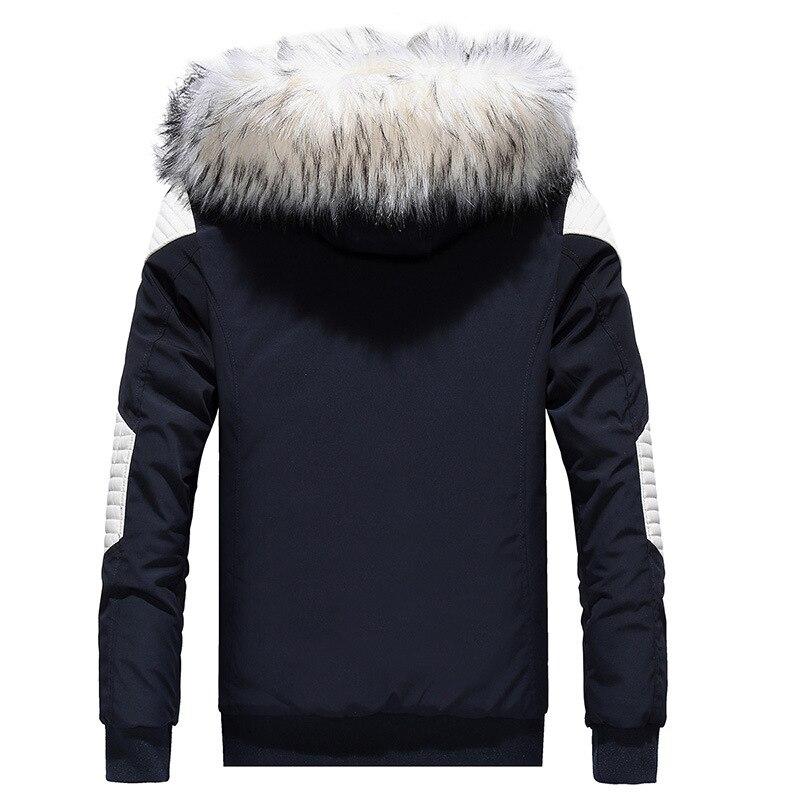 Fourrure White À xxl M Col Veste Avec Red Parkas Abz36 Black black navy White Capuchon Outwear Drop De Hommes Shipping D'hiver Pardessus 6w0z0H