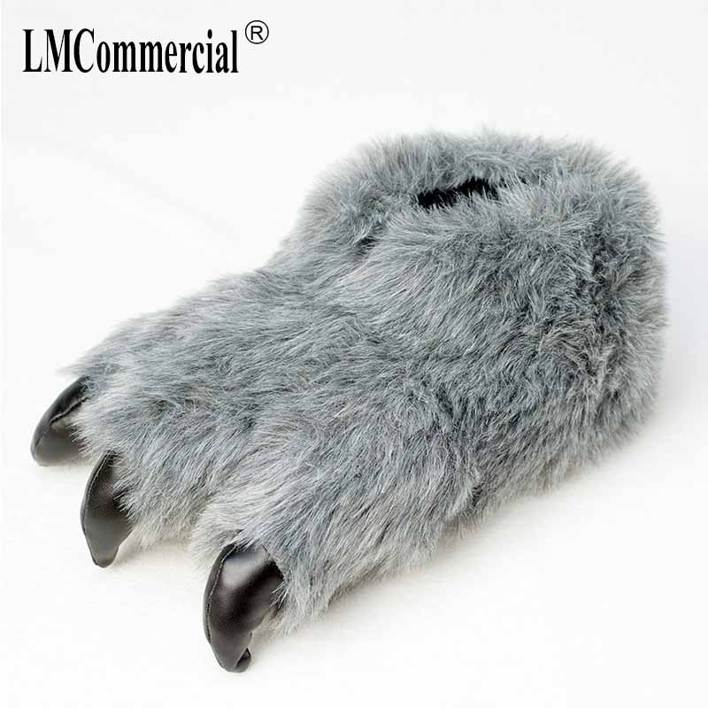 Cotton Plush Special Indoor Soft Shoes Men&Women Slippers custom Slipper Cottoon claws Slipper floor lovers shoes Winter Warm