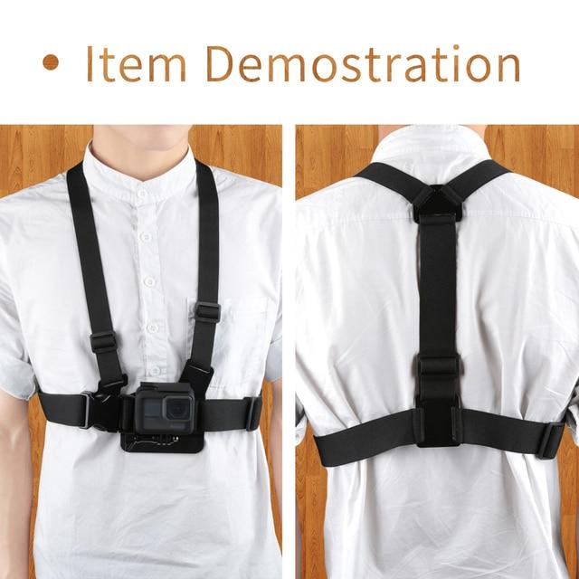SHOOT Adjustable Harness Chest Strap Head Strap Belt for GoPro Hero 8 7 6 5 Black Xiaomi Yi 4K Sjcam Sj4000 Go Pro 7 8 Accessory 5