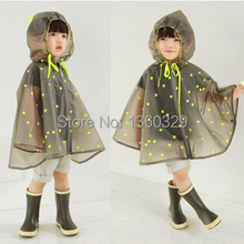 New Korean Style Burberry_ kids Raincoat Yellow Dots Poncho Women Boys Rainwear Children Rain Kids Cloak Waterproof Girl Clothes
