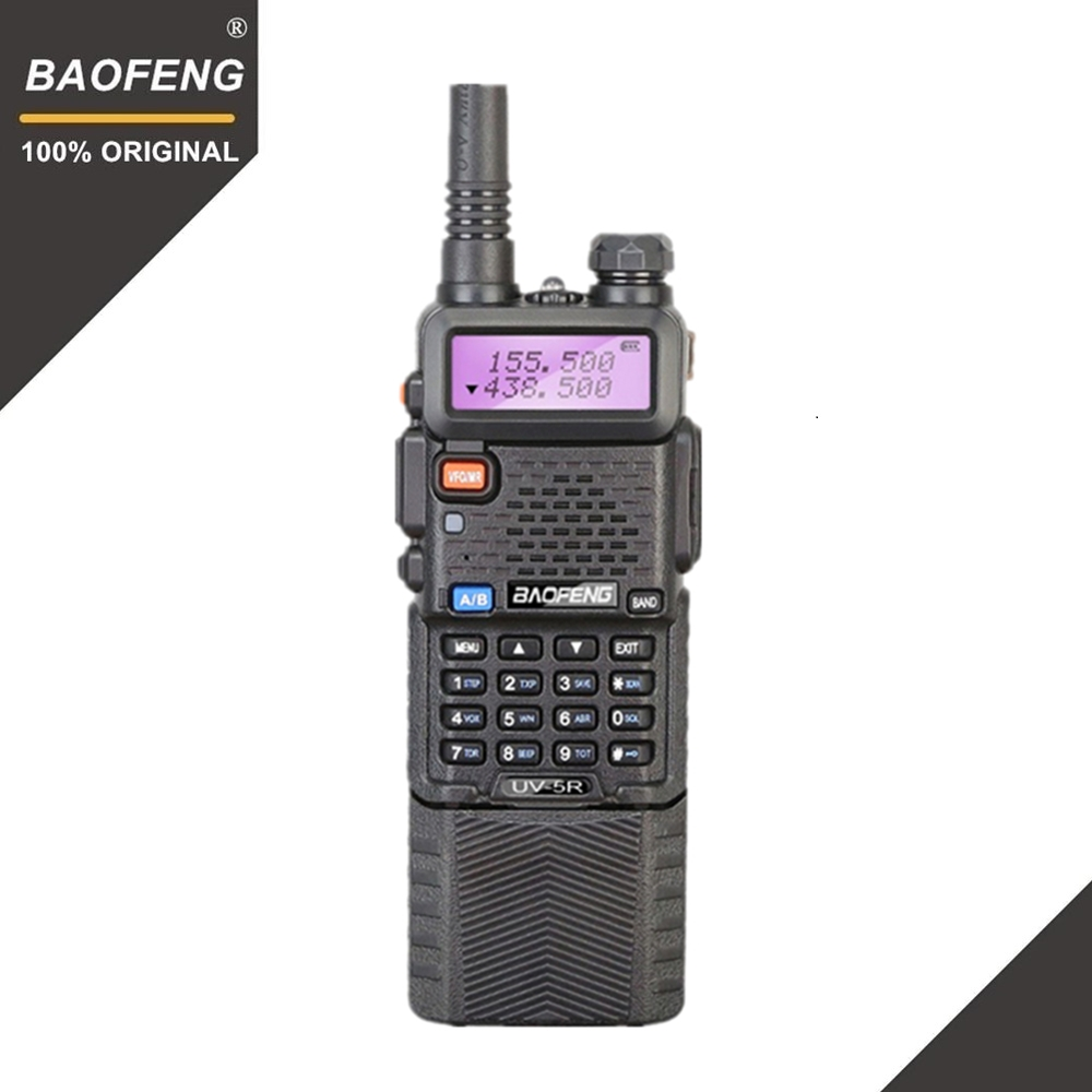 Baofeng UV-5R 3800 mah 5 w Talkie Walkie UHF400-520MHz VHF136-174MHz Portable Two Way Radio Jambon UV5R CB Radio UV 5R chasse Radio