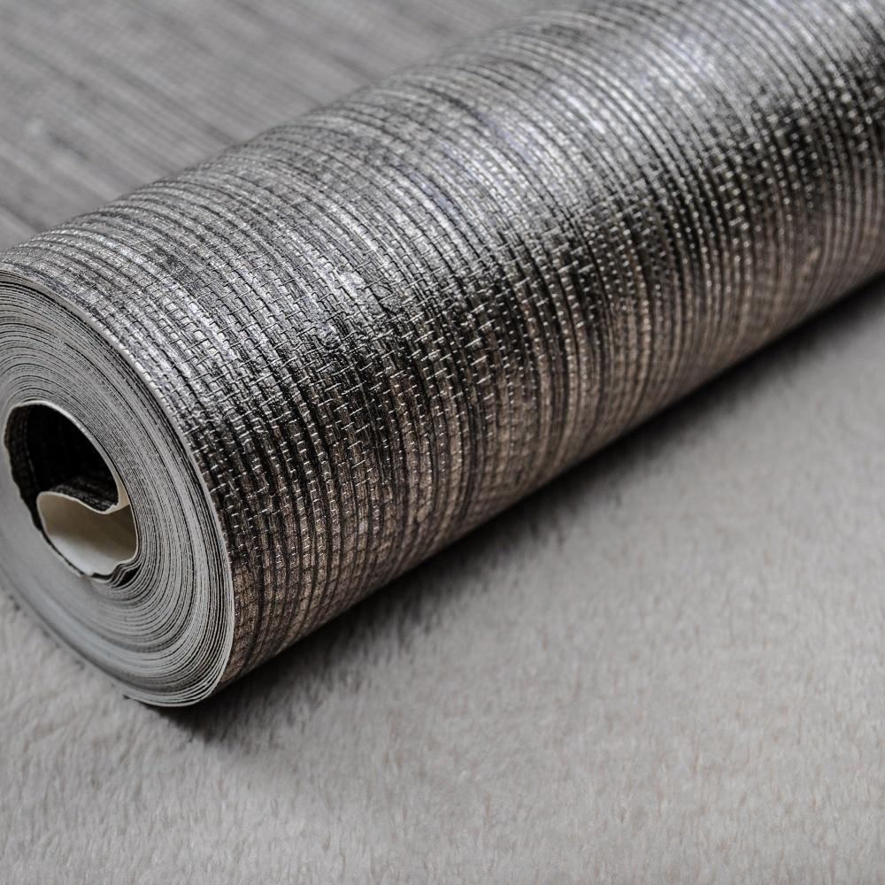Vertical Texture Metallic Silver Faux Grasscloth Vinyl: Grasscloth Wallpaper Reviews