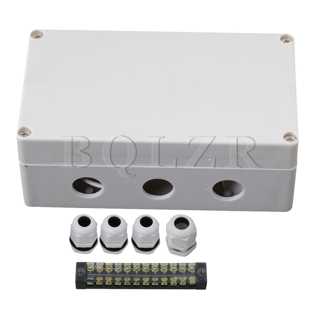 BQLZR Grey White 12 Bit Waterproof Connector Electric Junction Box 1 to 3  цены