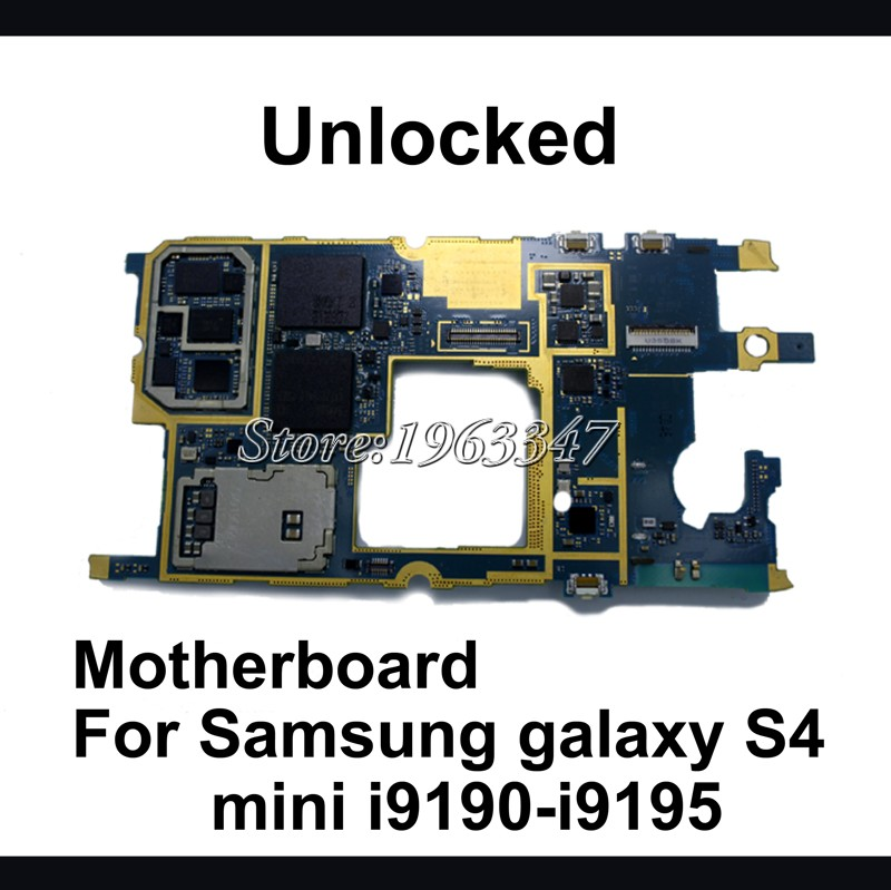 Original Unlocked For Samsung galaxy S4 mini i9195 i9190 motherboard 100 working mainboard with logic system