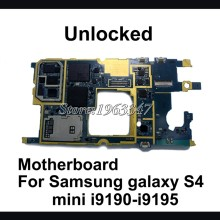 Original Unlocked  For Samsung galaxy S4 mini  i9195 i9190  motherboard ,100% working mainboard with  logic system board