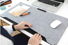 Fashion Durable Computer Desk Mat Modern Table Felt  Office Desk Mat Mouse Pad Pen Holder Wool Felt Laptop Cushion Desk Mat Pad