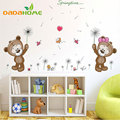 Vinyl Cute Bear Dandelion Kinde Rgarten Children's room Living Room Bedroom Wall Art home Decoration Wall Sticker