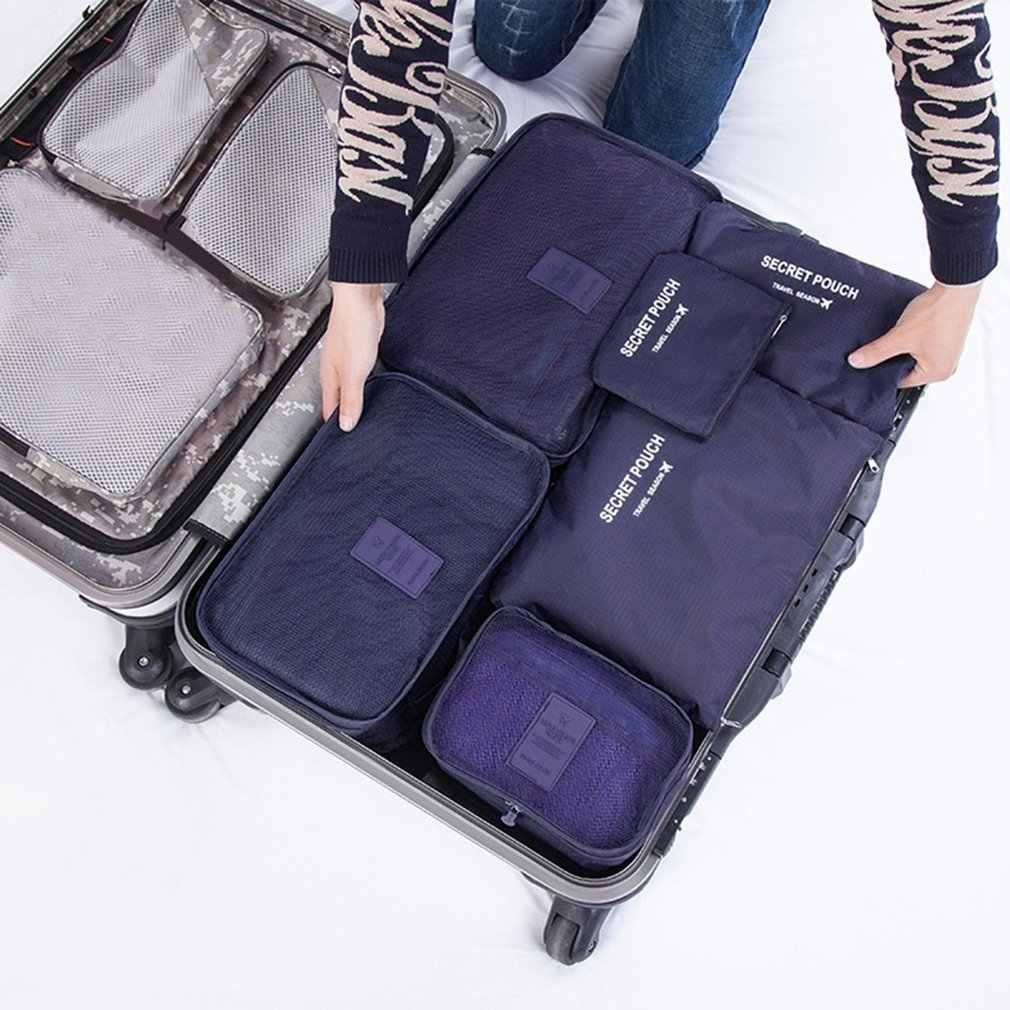 компл. нейлон набор квадратных упаковочных пакетов дорожная сумка  органайзер большой ёмкость 99bb0e8a666