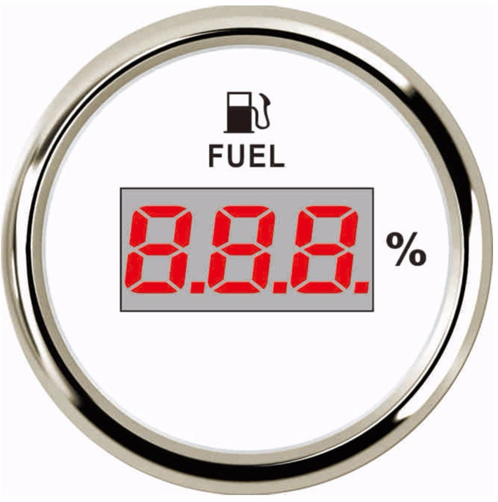 52mm Universal Digital Fuel Level Gauge Meter For Boat Rv Car Motorcycle 0-190ohm Signal 12v/24v Can Be Repeatedly Remolded. Oil Pressure Gauges Back To Search Resultsautomobiles & Motorcycles