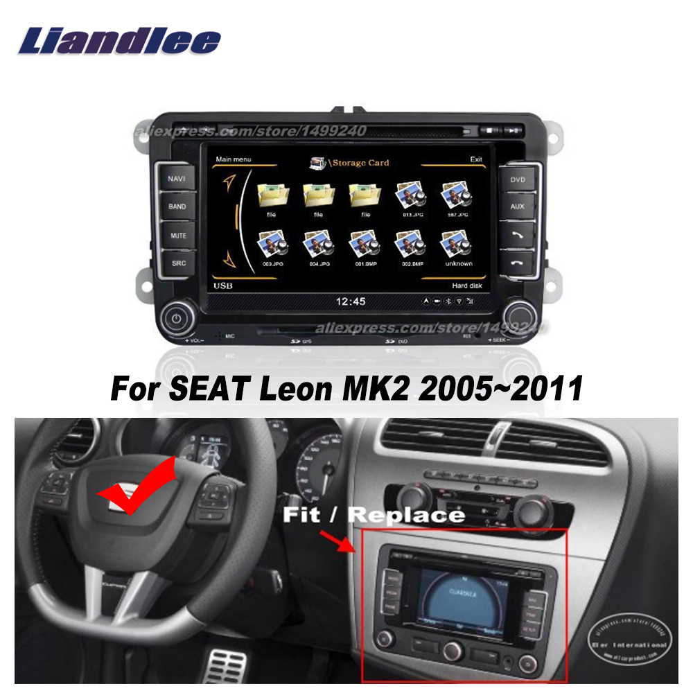 liandlee for seat leon mk2 2005 2011 car android radio cd. Black Bedroom Furniture Sets. Home Design Ideas