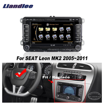 Liandlee For SEAT Leon MK2 2005~2011 Car Android Radio CD DVD Player GPS NAVI Maps HD Touch Stereo Media TV Multimedia