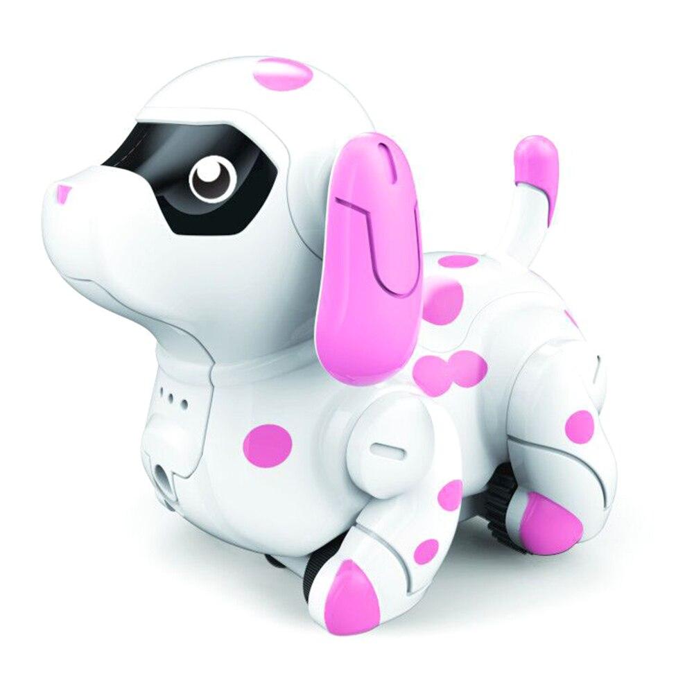 Следуйте любой нарисованной линии милые цвета Изменение умные животные Электрический подарок Индуктивный щенок-Модель Детская игрушка для дома роботизированная собака - Цвет: Розовый
