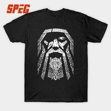 Vikings Sons of Odin Valhalla Men T Shirt Elders Printing Short Sleeve Round Neck Viking Tops Tee Funny Graphic T-Shirt