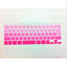 Rainbow JP keyboard Color English KeyboardX15 Cover Skin Protector For Apple MacBook Air Pro Retina 13