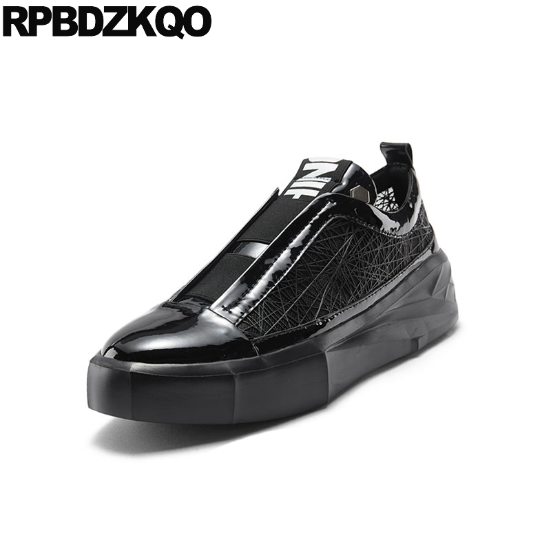 Lujo Diseñador Negro Nuevo Populares Calidad Plata Enredaderas Coreano Alta Casuales Plataforma De Negro Slip Cuero plata Zapatos Hombres Primavera q4qIfrwv