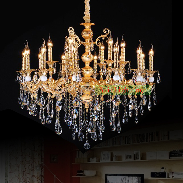 Gold plated Zinc Alloy crystal Chandelier Antique Gold Chandelier kitchen  island light Vintage hanging chandelier lamp - Gold Plated Zinc Alloy Crystal Chandelier Antique Gold Chandelier