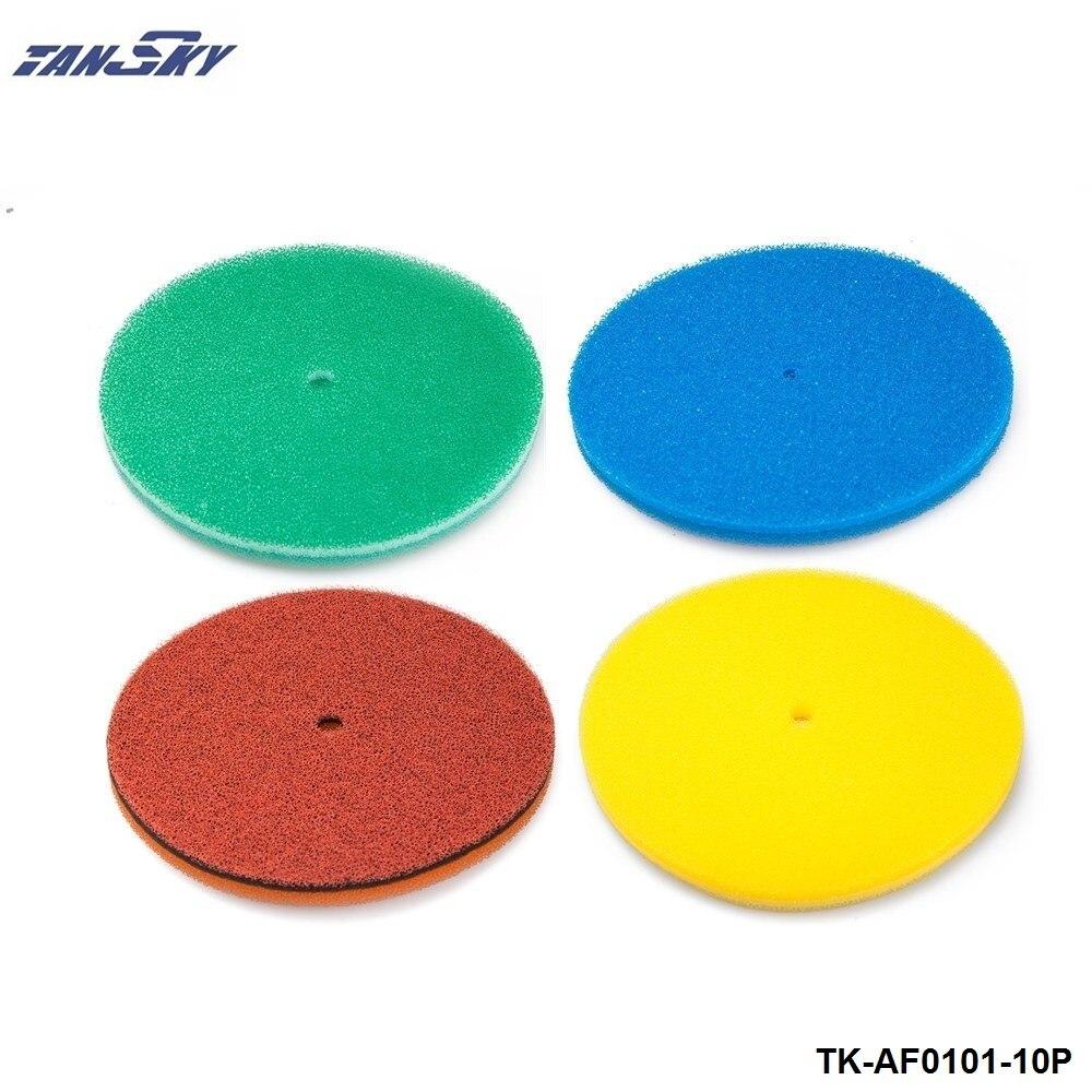 Prix pour TANSKY-10 PCS/LOT Filtre À Air Mousse/Filtre À Air éponge (Vert, Rouge, Jaune, bleu) pour Jeep TJ 97-01 TK-AF0101-10P
