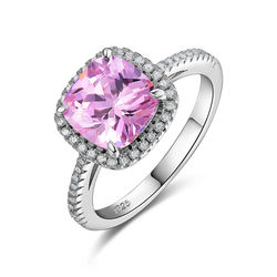 Newshe 1 8 ct pink cz solid 925 sterling silver halo wedding ring jewelry for women.jpg 250x250