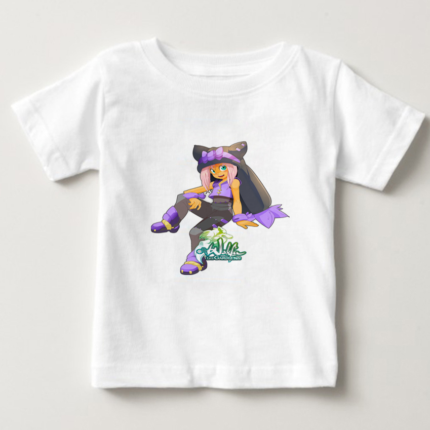 Children wakfu cartoon Design Tops t shirt Boys and Girls Game Casual T Shirt Kids T-Shirt baby O-Neck summer cute tee 3T-8T N