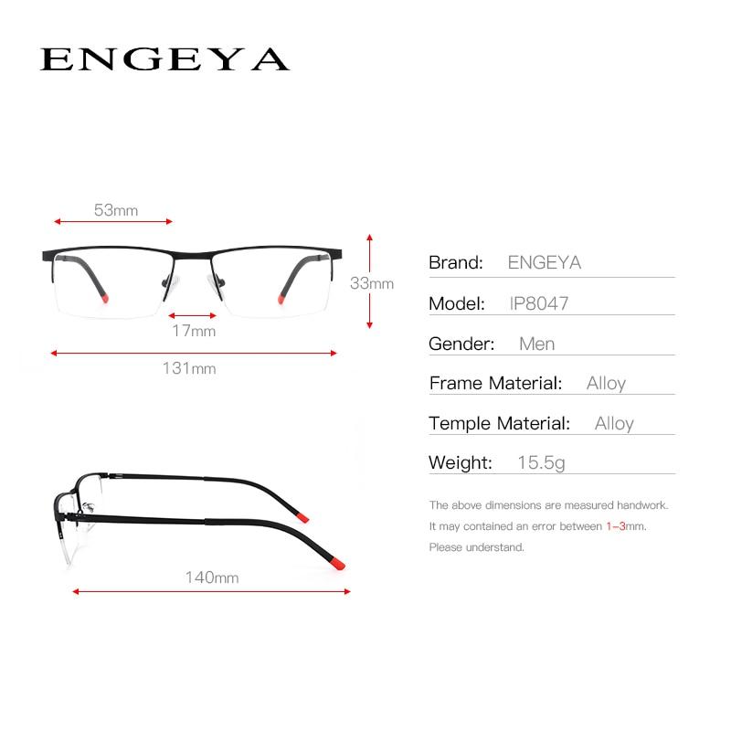 07bd54ba8 (BEST PROMO) سبائك نظارات الرجال واضح نصف نظارات أزياء شفافة البصرية وصفة  طبية نظارات للكمبيوتر # IP8047   Kindoxx.se