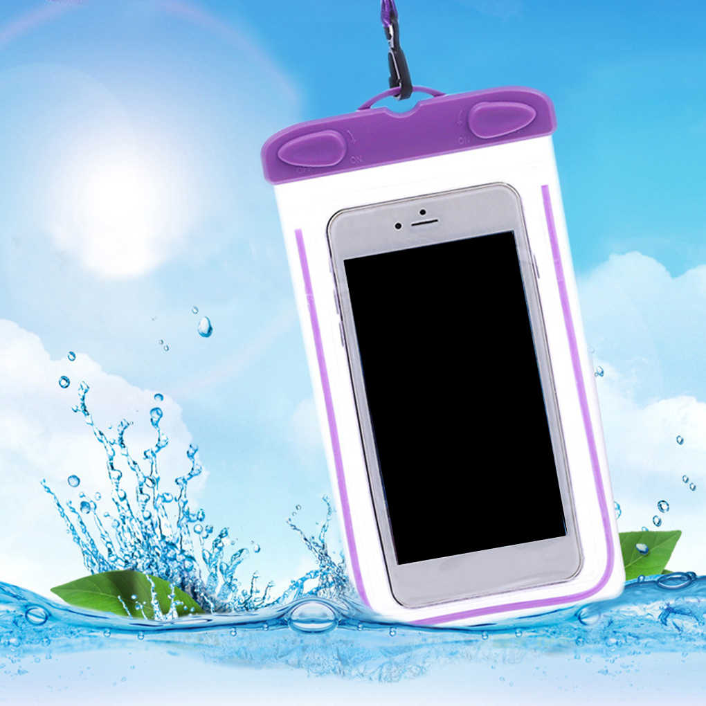 السباحة أكياس سمكا اللمس للماء الهاتف المحمول أكياس الجافة حماية الرياضة حقيبة ل 4 بوصة-6 بوصة الهاتف الذكي Xiaomi هواوي