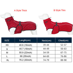 Image 2 - Wholesale Pet Clothes Jacket For Dog Winter Dog Clothes Red Clothing For Dogs Golden Retriever Waterproof Large Dog Jacket Black