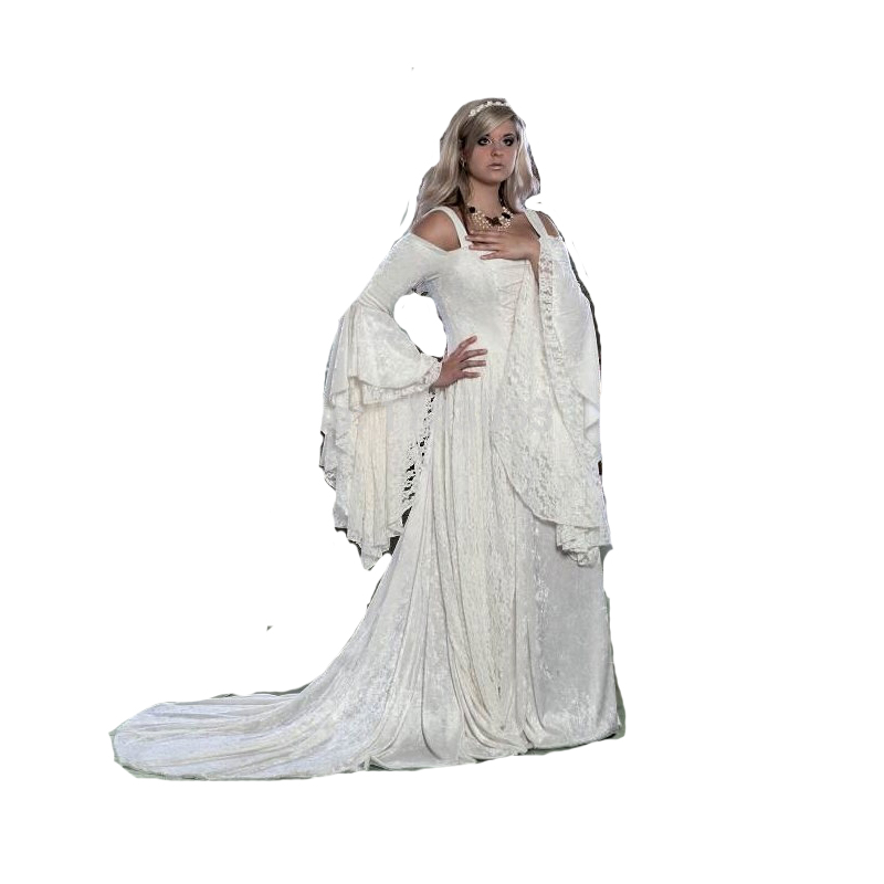Gwendolyn Medieval Velvet And Lace Wedding Gown /Southern