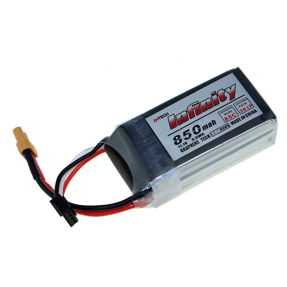 Infinity 550mAh 850mAh 85C 2S 3S 4S 11.1V 14.8V LiPo Batterij JST SY60 XT60 XT30 Pluggen voor RC FPV Multicopter Model Drone