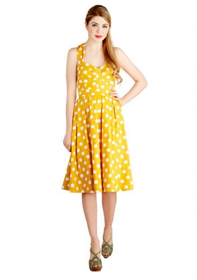 7cd4a50f0f26 Madonna style Vintage Rockabilly Polka Dot Swing 50s 60s pinup Housewife  Dress 1  57. 2  57. 3  57