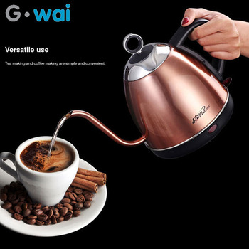 1L Stainless Steel Electric Kettle Home Automatic Power Off Slender Mouth Hand-held Instant Electric Kettle 220V electric kettle 304 stainless steel zhengpin electric hot pot home automatic power failure quick