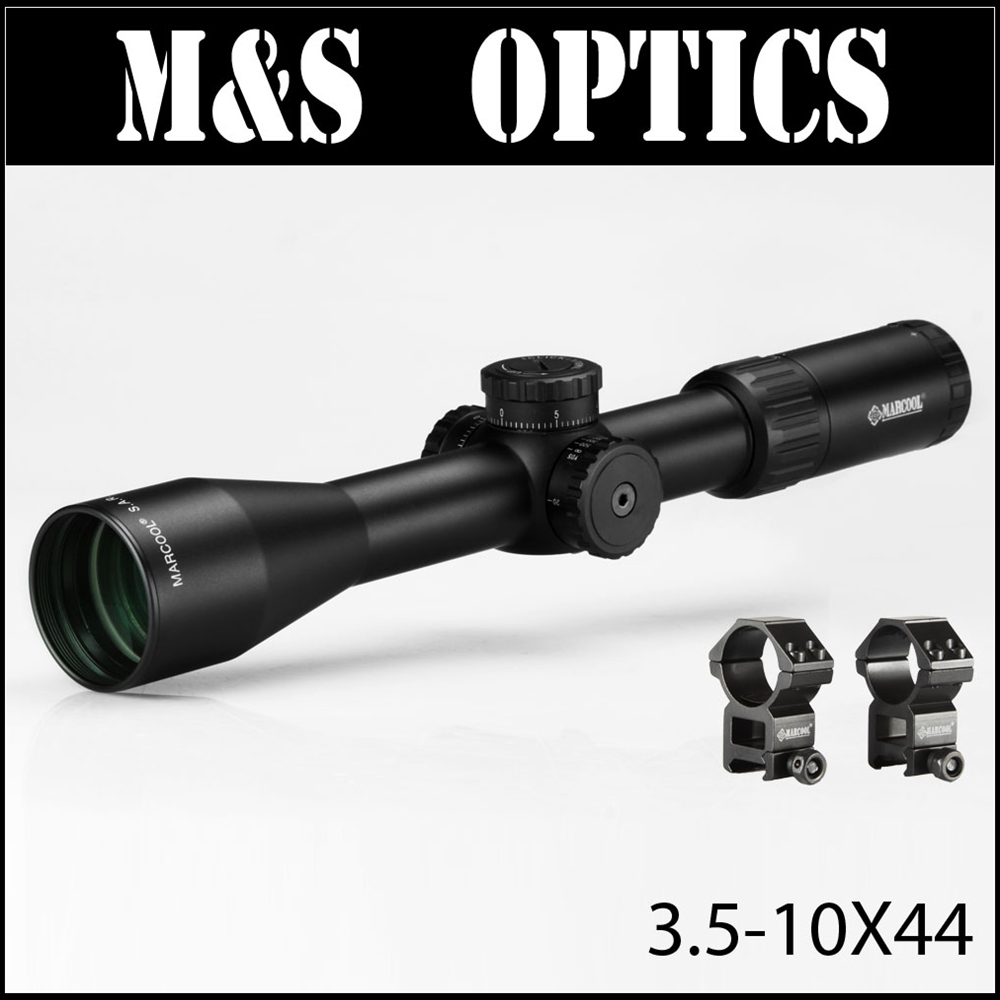 Selling MARCOOL ALT 3.5-10X44 Side Focus Sight Optical Rifle Scope Hunting Riflescope For Tactical Gun Scopes marcool 4 16x44 side focus front focal plane optical sights rifle scope hunting riflescopes for tactical gun scopes for adults