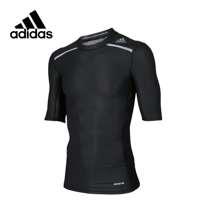 Adidas Original New Arrival Official Men's Climachill T-shirts Training Sportswear AJ5705 adidas original new arrival official women s tight elastic waist full length pants sportswear bj8360