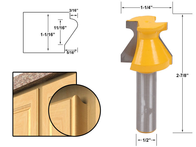 high quality Door Lip & Finger Grip Router Bit Set 1/2 Shank wood milling cutter/fresa/router bits for wood 1pc 8mm shank high quality straight dado router bit set diameter wood cutting tool