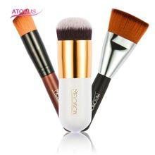 3pcs Makeup Brush Set Makeup Brushes Tools Cream Concealer Foundation Powder Face Cosmetic Head Brush + Blush Brush + Flat Top