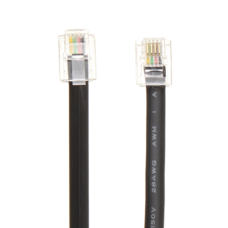 Portable Pure Copper 0 6M Telephone Line Cord Cable Wire