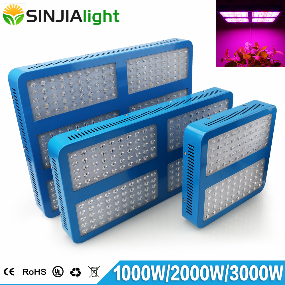 1000W 2000W 3000W LED Grow Light Full Spectrum Phytolamp Panel Growing Lamp for Plants Hydroponics Vegs