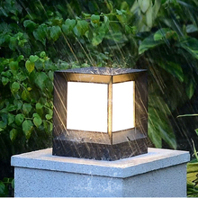 Nordic Black White IP44 Waterproof Solar LED Outdoor Garden Lighting Patio Lamp With Sensor for Floor Decor Country House Street country house garden