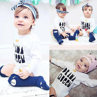 New Fashion Baby Cotton Bodysuit Cute Newborn Baby Boy Girl Crown Bodysuits Long Sleeve Jumpsuit Bodysuit Playsuit Outfits