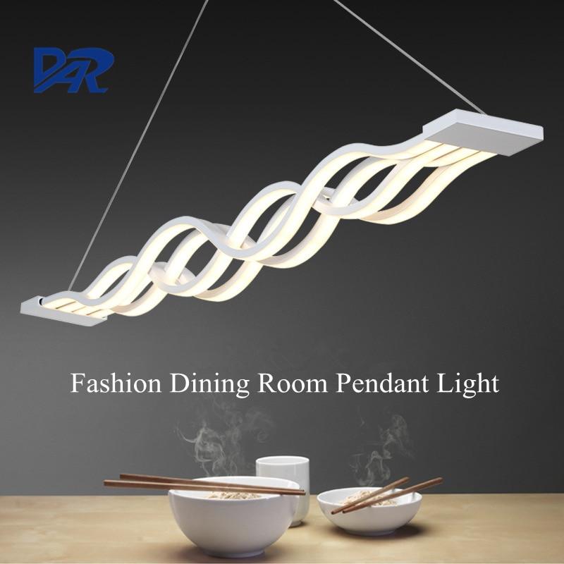 Фотография Modern White Acrylic Pendant Lamp Dining Room Creative Wave Led Pendant Lights Restaurant Suspension Luminaire Lustre Hanglamp
