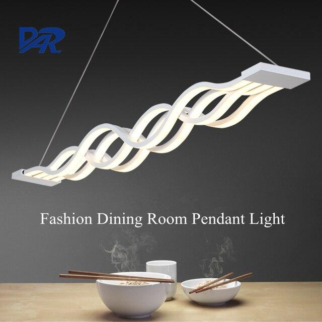 Modern White Acrylic Pendant Lamp Dining Room Creative Wave Led