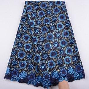 Image 2 - la suisse afrique tissu coton tissus de dentelle haute qualité voile lacets dentelle française tissu tissu chaque robe a1344 hommes femmes