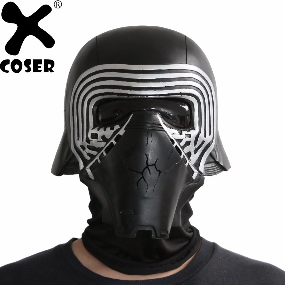XCOSER Classic Kylo Ren Helmet Star Wars 7 The Force Awakens Cosplay Cool PVC Full Head Helmet Halloween Party Cosplay Accessory